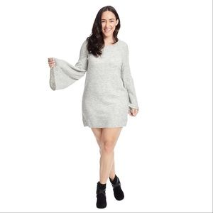 Kensie Grey Bell Sleeve Sweater Dress SZ 2X